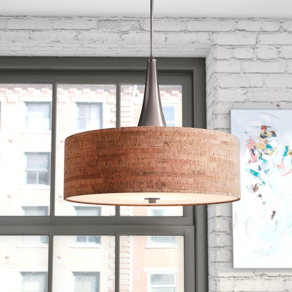 Haugland 3-Light Drum Chandelier by Mercury Row