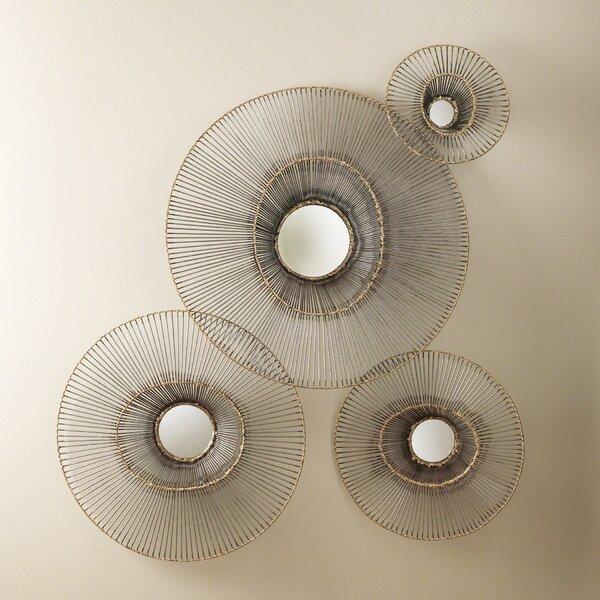 4 Piece Tilt-A-Wire Mirror Set by Global Views