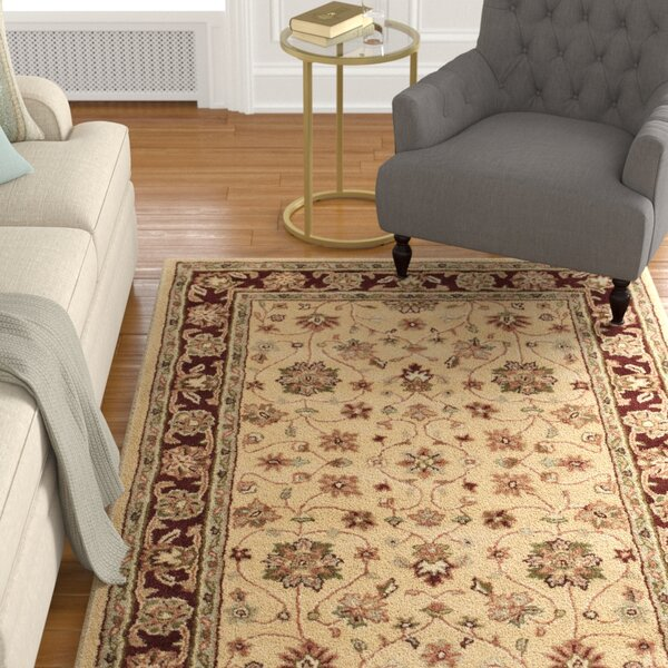 Cranmore Ivory/Red Area Rug by Charlton Home