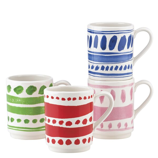 All in Good Taste 4 Piece Pretty Pantry Stacking Mug Set by kate spade new york