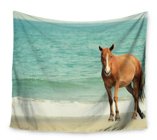 Wild Mustang of Carova by Robin Dickinson Wall Tapestry by East Urban Home