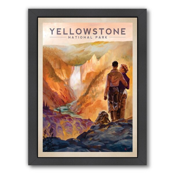 Yellowstone National Park Framed Vintage Advertisement by East Urban Home