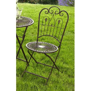 Provence Folding Patio Dining Chair (Set of 2) byPier Surplus