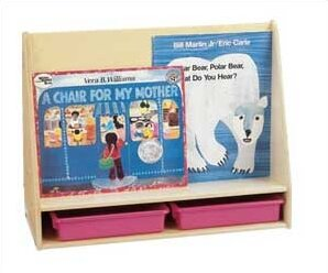 Small Double Sided 4 Compartment Book Display by Jonti-Craft