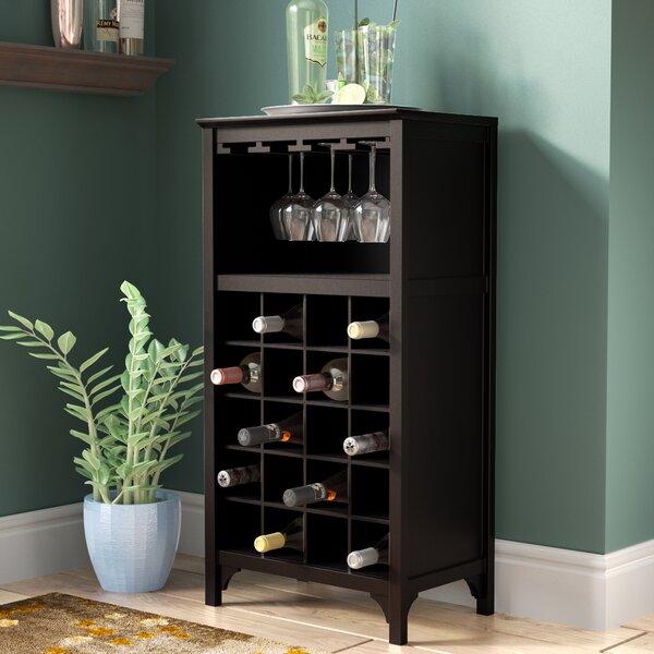 Shanley 20 Bottle Floor Wine Bottle And Glass Rack By Winston Porter