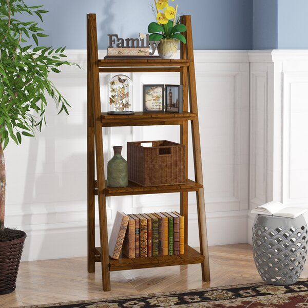Bordelon Slatted Ladder Bookcase by Andover Mills