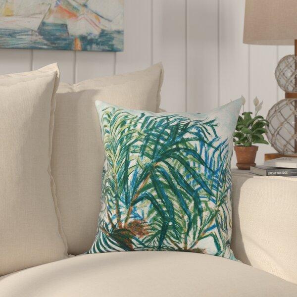 Granata Palms Floral Print Throw Pillow by Bay Isle Home