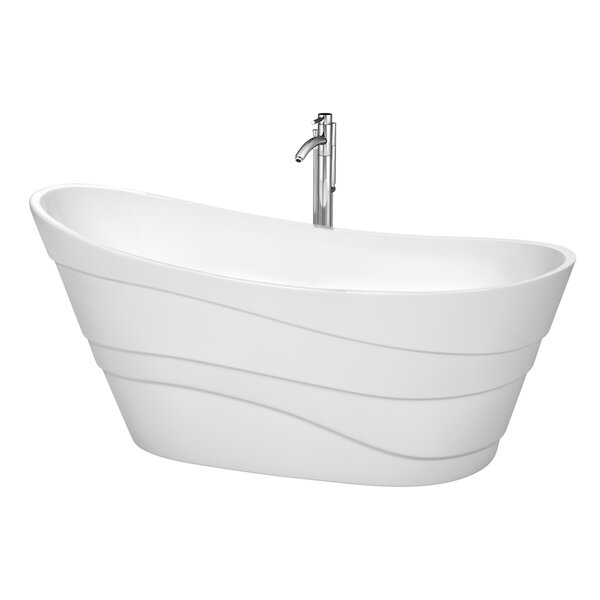 Kari 67.25 x 29.25 Soaking Bathtub by Wyndham Collection