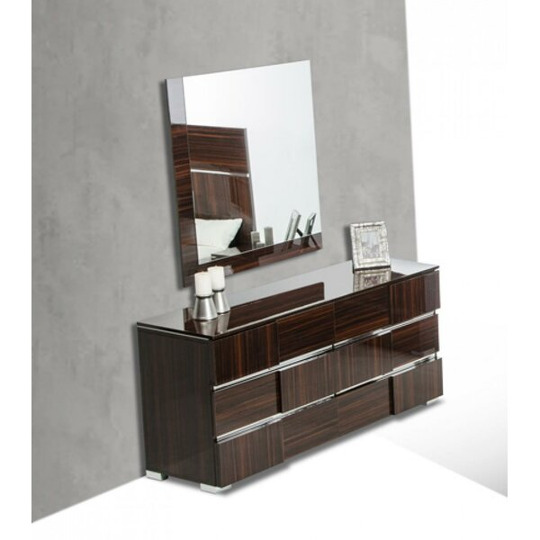 Shelteridge 6 Drawer Dresser with Mirror by Orren Ellis