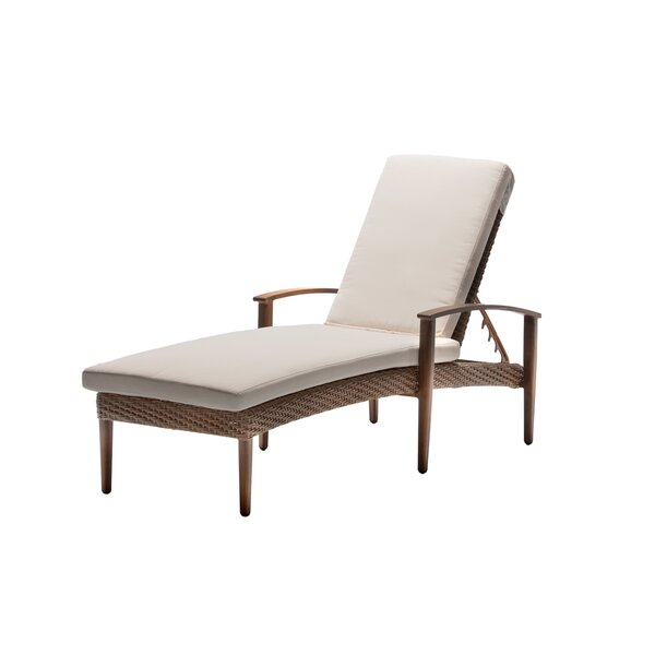 Brinwood Reclining Chaise Lounge with Cushion by Bungalow Rose