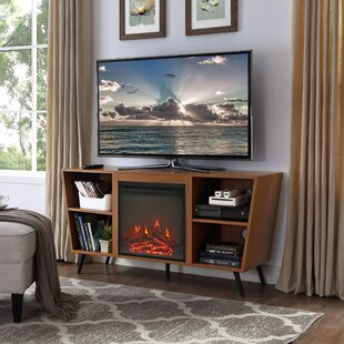 Comparison Demoss TV Stand for TVs up to 55 with Fireplace ByWrought Studio
