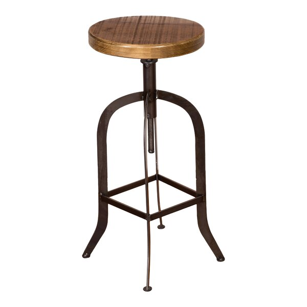 Factory Adjustable Height Swivel Bar Stool by Napa East Collection
