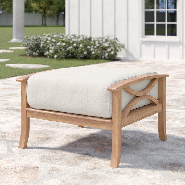 Brunswick Teak Ottoman with Cushion by Birch Lane™ Heritage