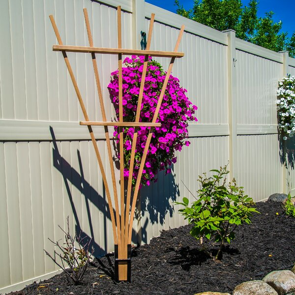 Expandable Wood Fan Trellis by Gronomics