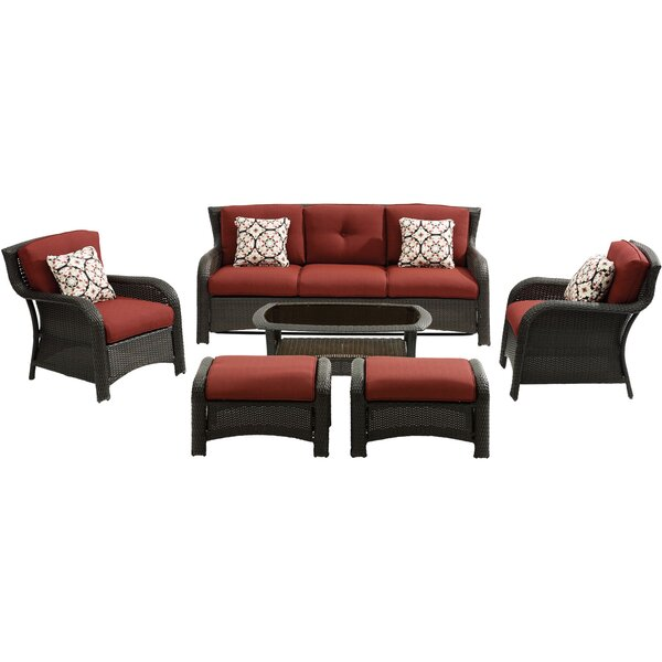 Asherman 6 Piece Rattan Sofa Seating Group with Cushions by Sol 72 Outdoor