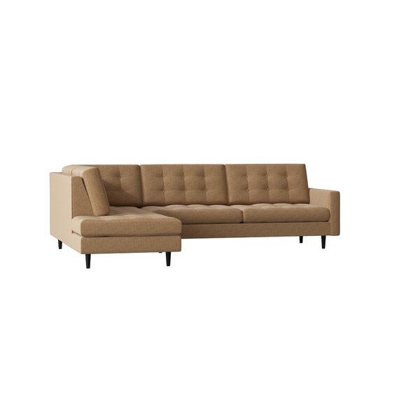 Mid-Century Left Hand Facing Sectional By Loni M Designs