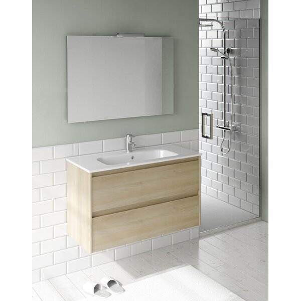Ambra 24 Single Bathroom Vanity Set with Mirror by WS Bath Collections