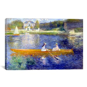 'The Seine at Asnieres' by Pierre-Auguste Renoir Painting Print on Canvas by Charlton Home