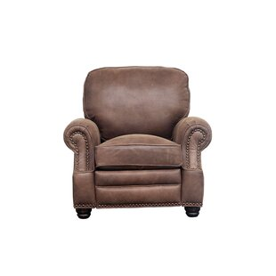Presnell Leather Manual Recliner By Darby Home Co