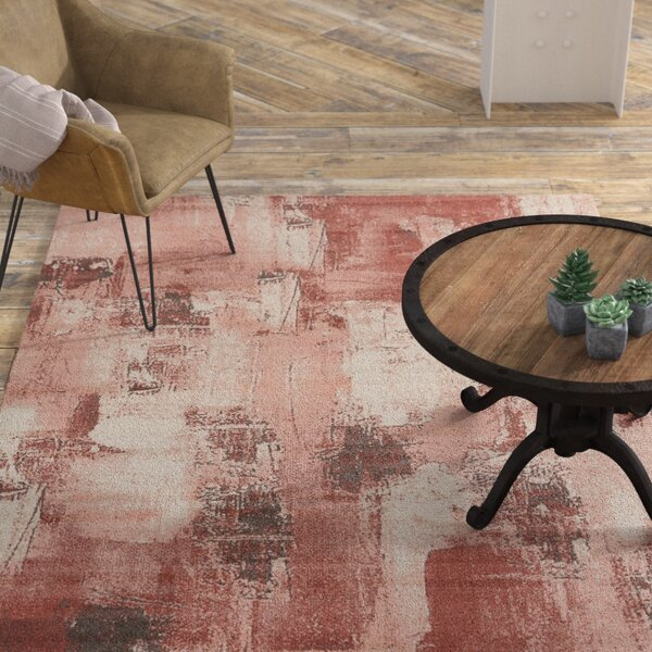 Costello Red/Beige Area Rug by 17 Stories