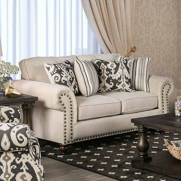 Fella Leather Loveseat by Darby Home Co