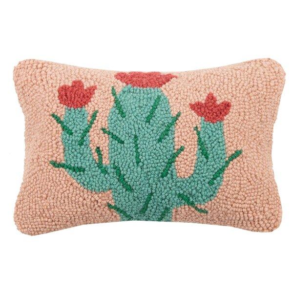 Branham Cactus Hook Wool Lumbar Pillow by Bungalow Rose