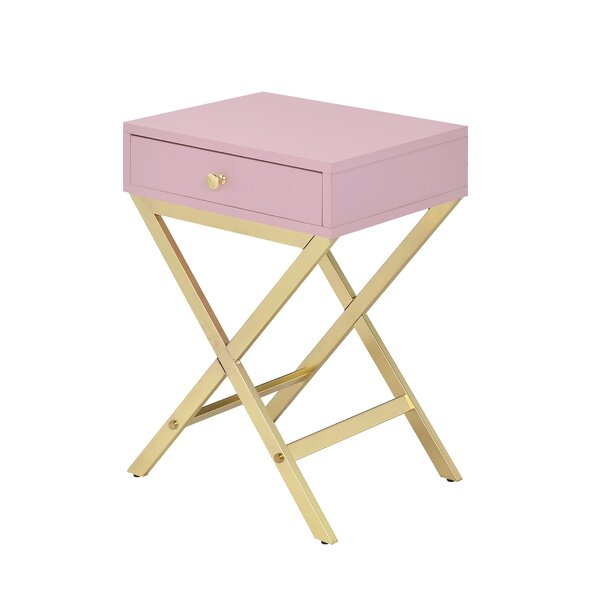 Livingston End Table With Storage By House Of Hampton