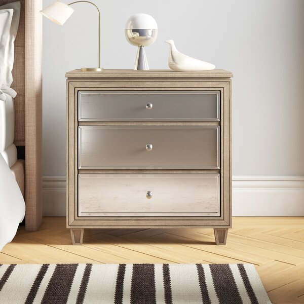Gunnar 3 Drawer Nightstand By Rosdorf Park by Rosdorf Park Today Only Sale