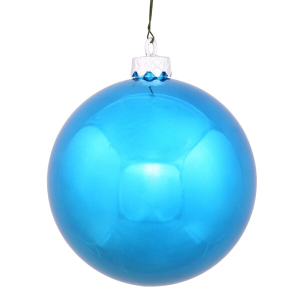 UV Drilled Shiny Ball Ornament (Set of 4) by The Holiday Aisle