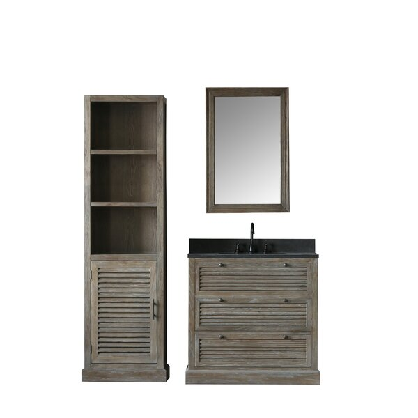 Kaylee 37 Single Bathroom Vanity Set with Mirror by Millwood Pines