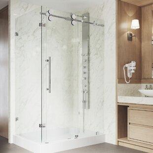 Top Reviews Winslow 46.5 x 79.87 Rectangle Sliding Shower enclosure with Base Included ByVIGO