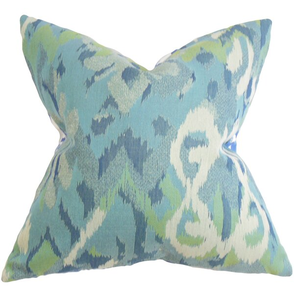 Farrar Ikat Throw Pillow by The Pillow Collection
