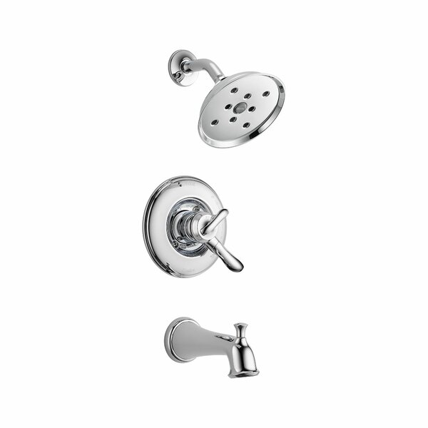 Linden Tub and Shower Faucet Trim with Lever Handles and Monitor by Delta