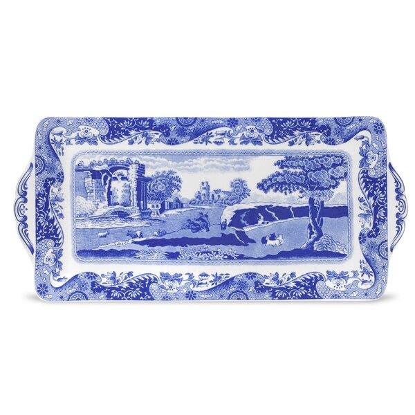Blue Italian Sandwich Rectangular Serving Tray by Spode