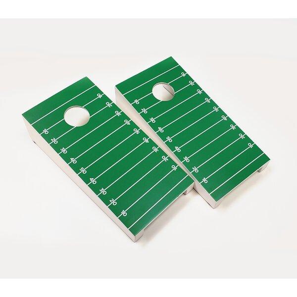 10 Piece Football Field Tabletop Cornhole Set [AJJ Cornhole]