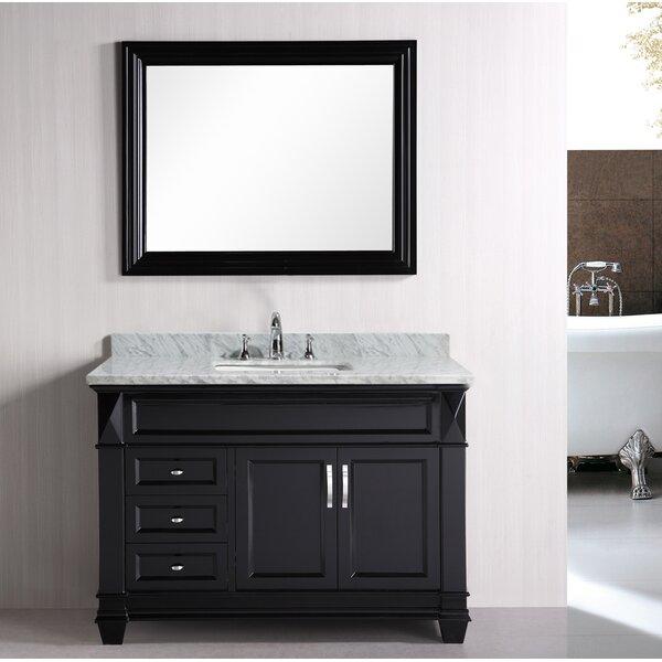 Rosalez 48 Single Bathroom Vanity Set with Mirror by Latitude Run