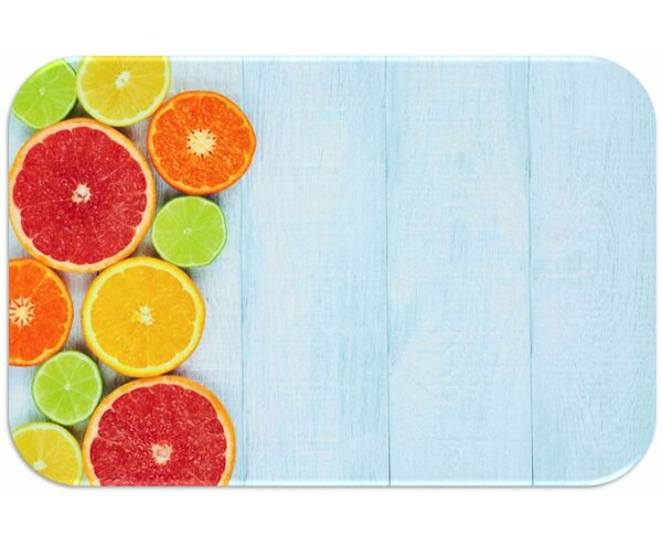 Fruits Print Slip-Resistant Foam 19 Placemat (Set of 8) by Dainty Home