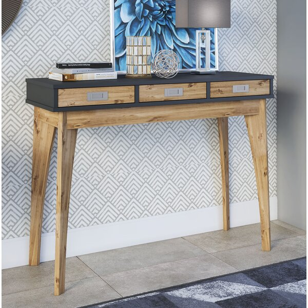 Tebikerei 3 Drawer Console Table By Union Rustic