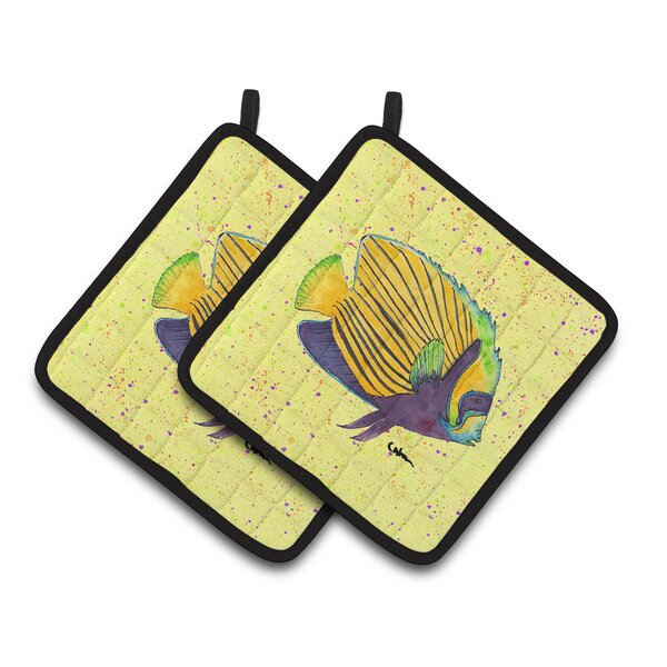 Fish Potholder (Set of 2) by East Urban Home