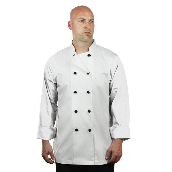Premium Long Sleeve Chef Coat Apron by ASD Living
