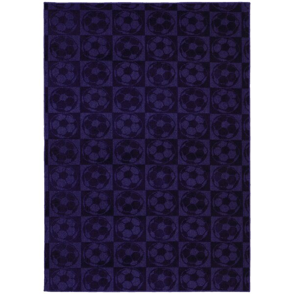 Sports Balls Purple Area Rug by Garland Rug