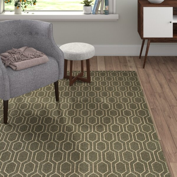 Oren Gray/Ivory Lattice Area Rug by Langley Street