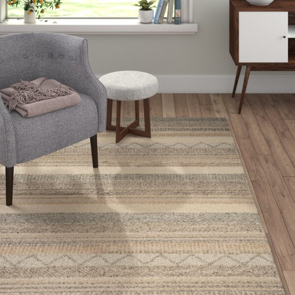 Daytona Beach Hand-Tufted Beige Area Rug by Langley Street