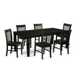 beesley 7 piece rectangular wood dining set