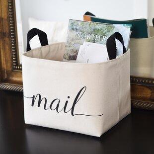 Mail Canvas Storage Basket
