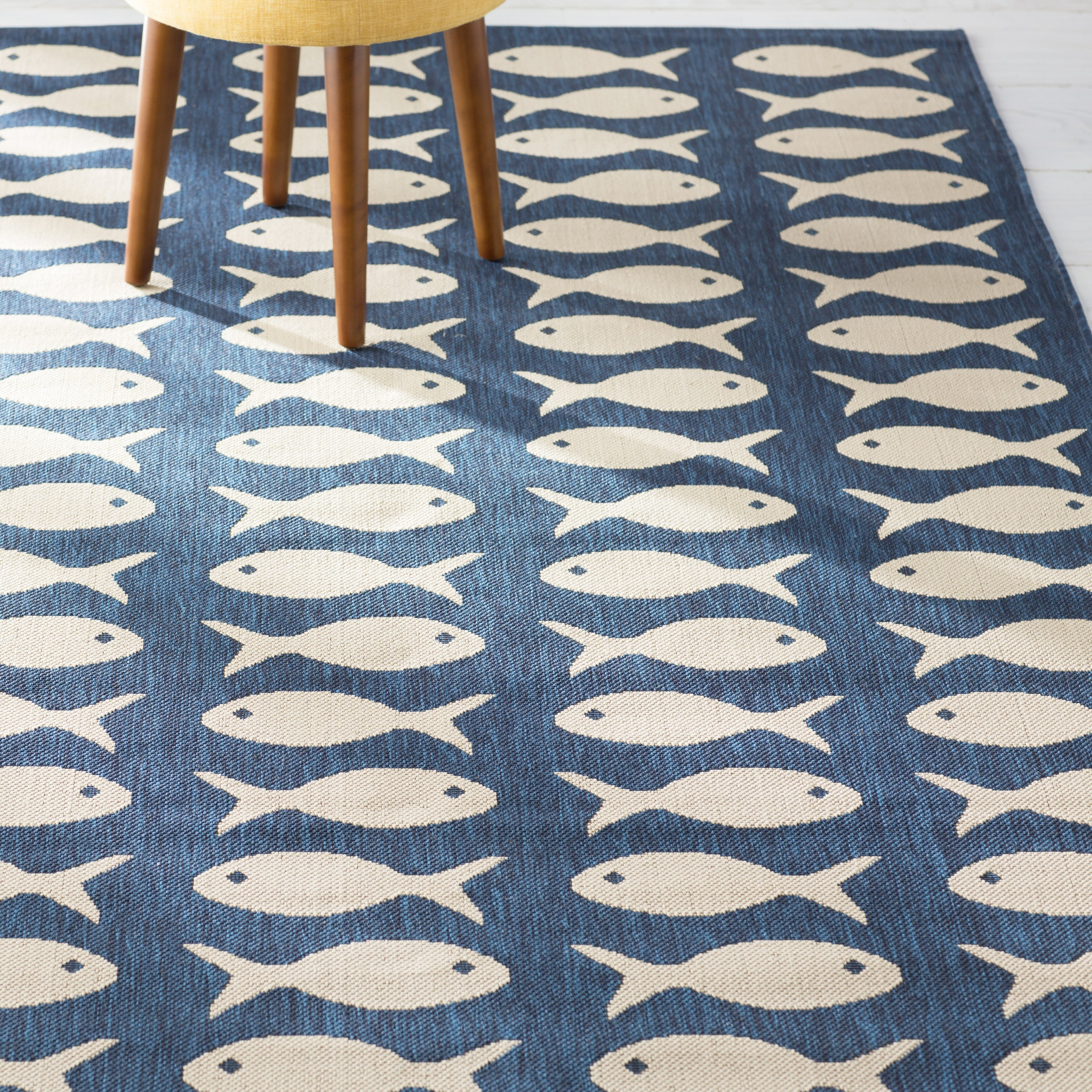 indooroutdoor blue indoor bluebeige outdoor area short rugs joss rug pdp main beige navybeige reviews