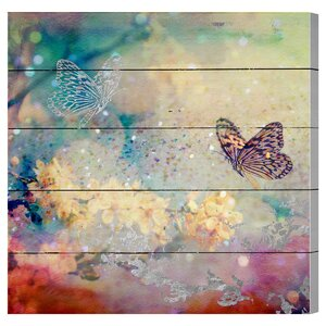 Butterfly Dance Graphic Art Plaque by Bungalow Rose
