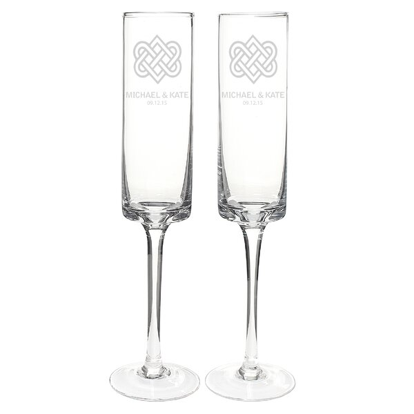 Personalized Celtic Knot 8 Oz. Contemporary Champagne Flute (Set of 2) by Cathys Concepts
