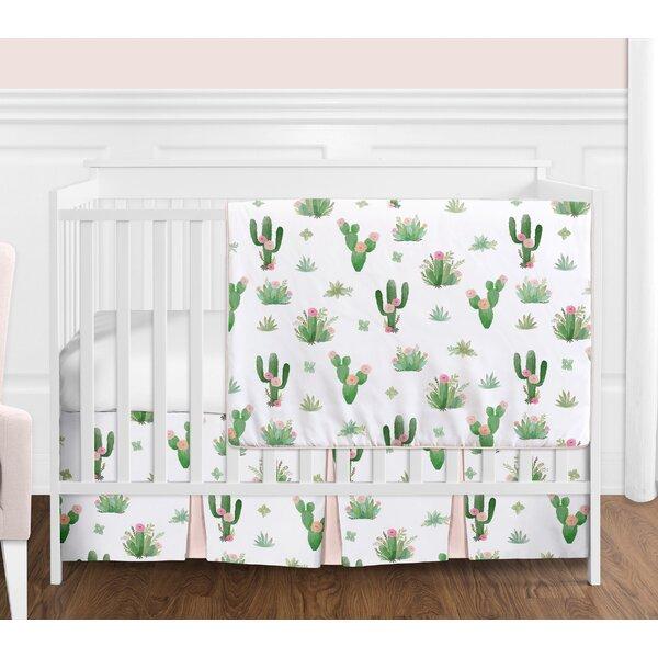 Cactus Floral 4 Piece Crib Bedding Set by Sweet Jojo Designs