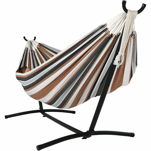 Poirier Jumbo Double Hammock with Stand by Bay Isle Home